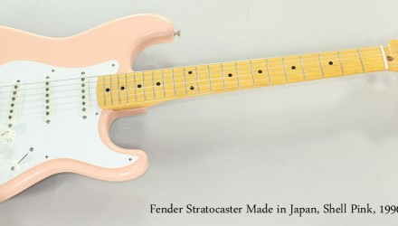 Fender-Stratocaster-Made-in-Japan-Shell-Pink-1996-Full-Front-View