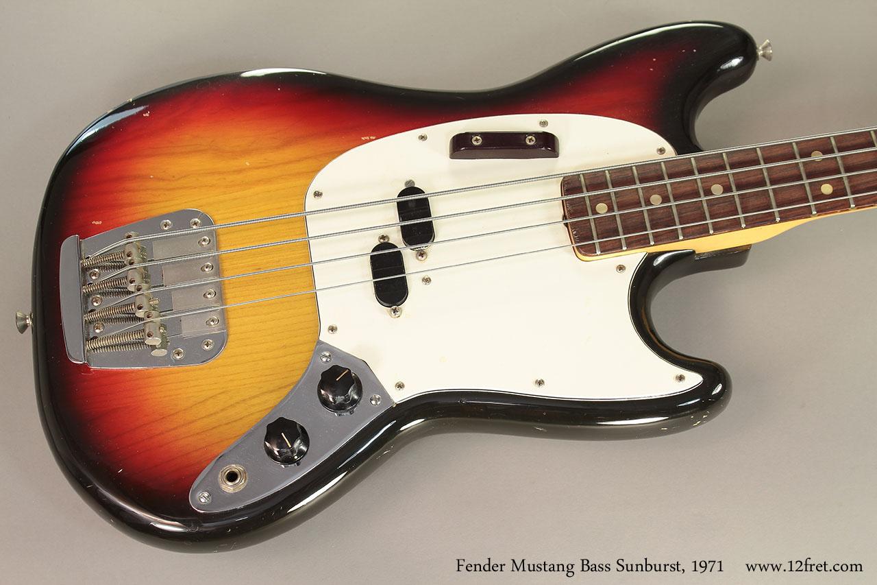 1971 Fender Mustang Bass Sunburst | www.12fret.com  1971 Fender Mus...