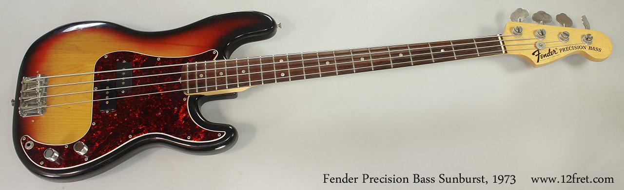 Fender Precision Bass Sunburst 1973 Full Front View