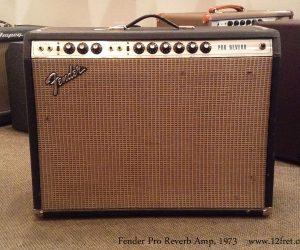 1973 Fender Pro Reverb Amp (SOLD)