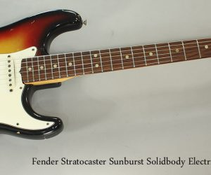 NO LONGER AVAILABLE!!! 1969 Fender Stratocaster Sunburst Solidbody Electric Guitar