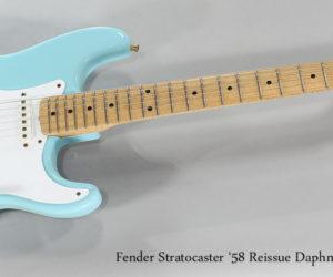 NO LONGER AVAILABLE!!! 1997 Fender Stratocaster '58 Reissue Daphne Blue