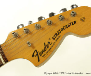 Olympic White 1970 Fender Stratocaster (consignment) SOLD
