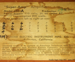 1962 Fender Super Amplifier SOLD
