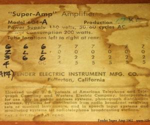 1962 Fender Super Amplifier SOLD