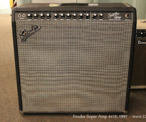 1997 Fender Super Amp 4x10 (REDUCED)
