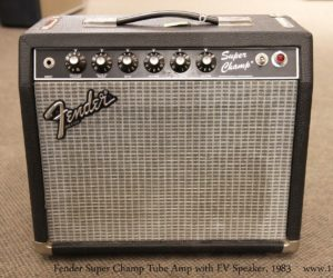 ❌SOLD❌ Fender Super Champ Tube Amp with EV Speaker, 1983