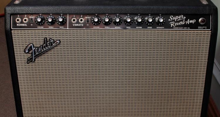 Fender-Super-Reverb-Amp-Blackface-1965-front-panel