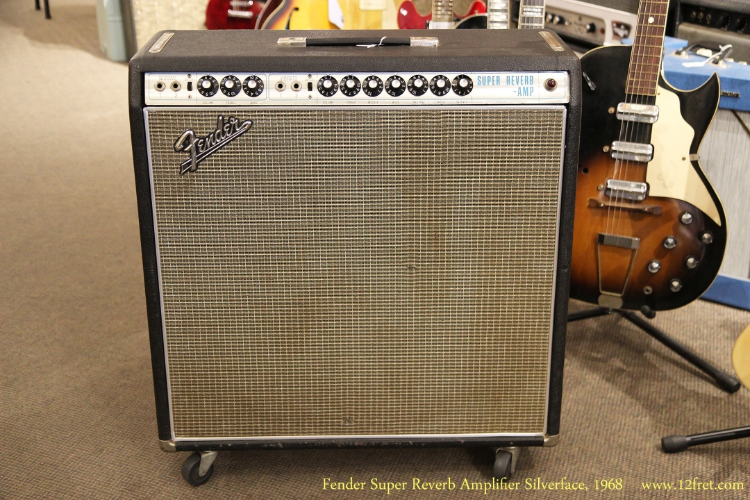 Fender Super Reverb Amplifier Silverface 1968 Full Front View