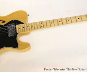 Fender Telecaster Thinline Guitar Natural, 1978