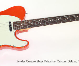 SOLD!! 2008 Fender Custom Shop Telecaster Custom Deluxe, Tangerine