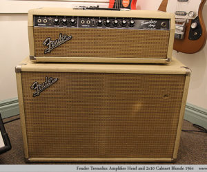 NO LONGER AVAILABLE!!! Fender Tremolux Amplifier Head with 2x10 Cabinet Blonde 1964
