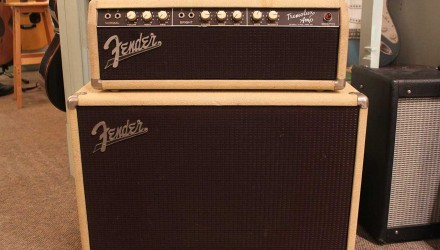 Fender-Tremolux-Head-and-Cabinet-1961-Full-front-view