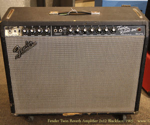 Fender Twin Reverb Amplifier 2x12 Blackface, 1965 (REDUCED)