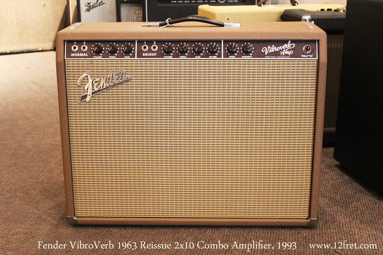 1993 Fender Vibroverb 1963 Reissue 2x10 Combo Amplifier