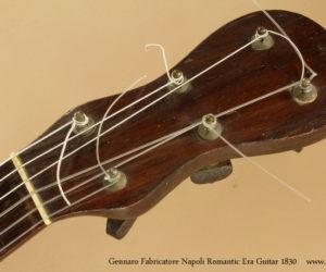 SOLD  1830 Gennaro Fabricatore Romantic Era Guitar