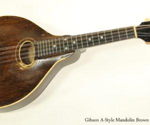 Gibson A-Style Mandolin Brown Top, 1918