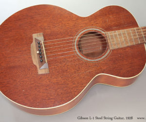 1928 Gibson L-1 Steel String Acoustic Guitar