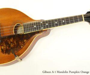 Gibson A1 Mandolin Pumpkin Orange Top, 1915