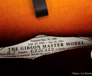 2010 Gibson A-5 Mandolin (consignment) No Longer Available