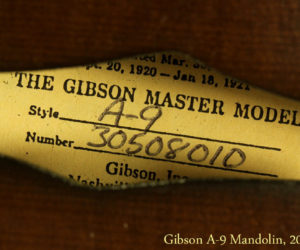 Gibson A-9 Mandolin 2008 SOLD