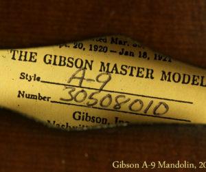 Gibson A-9 Mandolin 2008 SOLD