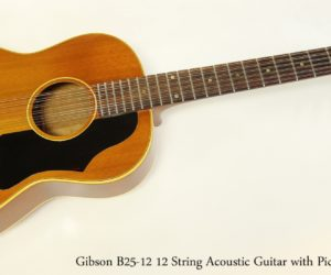❌ SOLD ❌  Gibson B25-12 12 String Acoustic Guitar with Pickup, 1965