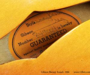 1966 Cherryburst Gibson Barney Kessel Regular (consignment) SOLD