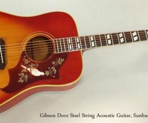 SOLD!!! 1969 Gibson Dove Steel String Acoustic Guitar, Sunburst