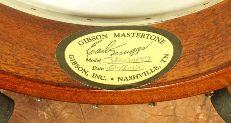 Gibson-Earl-Scruggs-Standard-Mastertone-Banjo-2000-label