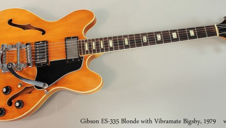 Gibson-ES-335-Blonde-with-Vibramate-Bigsby-1979-Full-Front-VIew