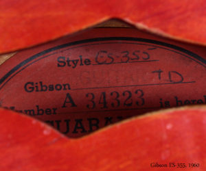 Cherry Red 1960 Gibson ES-355 (consignment) SOLD