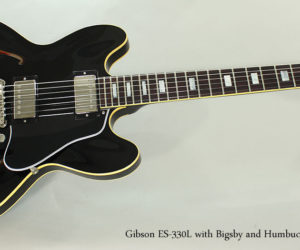 SOLD!  2015 Gibson ES-330L with Bigsby, Black  REDUCED