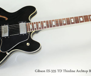 1976 Gibson ES-335 TD Thinline Archtop Electric Guitar, Black