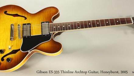 Gibson-ES-335-Thinline-Archtop-Guitar-Honeyburst-2005-Full-Front-View