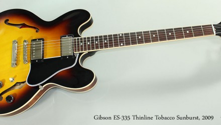 Gibson-ES-335-Thinline-Tobacco-Sunburst-2009-Full-Front-View