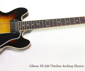 ❌ SOLD ❌  2007 Gibson ES-339 Thinline Archtop Electric Sunburst