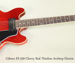 ❌SOLD❌  2009 Gibson ES-339 Cherry Red Thinline Archtop Electric Guitar