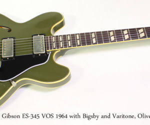 SOLD!!! 2016 Gibson ES-345 VOS 1964, Bigsby and Varitone, Olive Drab