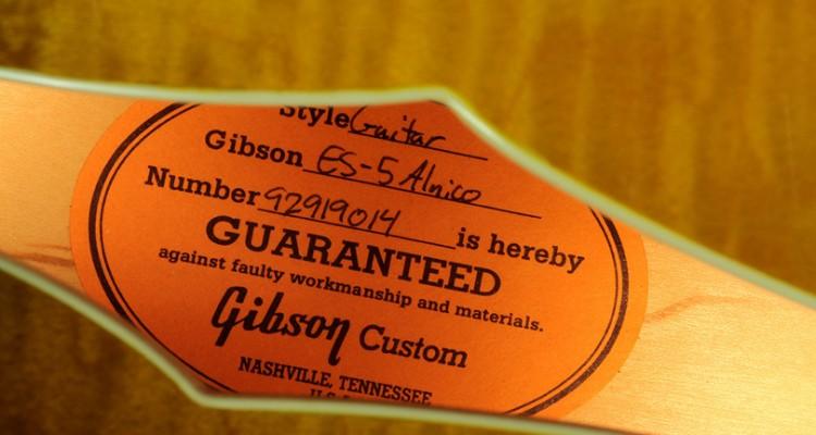 Gibson-ES-5-1999-label