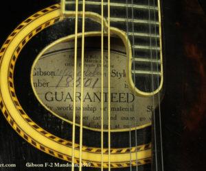 Gibson F-2 Mandolin 1919 No Longer Available