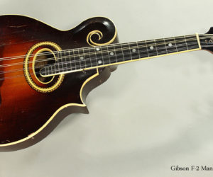 SOLD! 1930 Gibson F-2 Mandolin