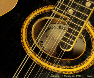 Gibson F-2 Mandolin 1908 (consignment) SOLD
