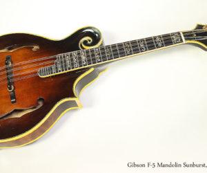 1978 Gibson F-5 Mandolin Sunburst