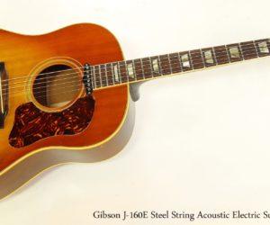 Gibson J-160E Steel String Acoustic Electric Sunburst, 1966