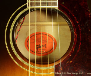 2007 Gibson J-185 True Vintage (consignment)  SOLD