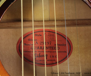 1959 Gibson J-200 Sunburst No Longer Availalble