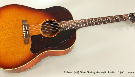 Gibson-J-45-Steel-String-Acoustic-Guitar-1960-Full-Front-View