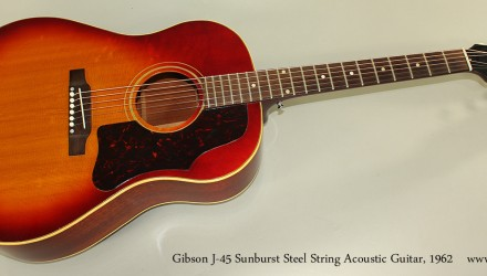 Gibson-J-45-Sunburst-Steel-String-Acoustic-Guitar-1962-Full-Front-View