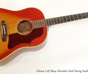Gibson J-45 Slope Shoulder Steel String Sunburst, 1967